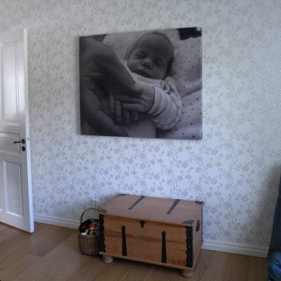 Ljudabsorbent med bebismotiv
