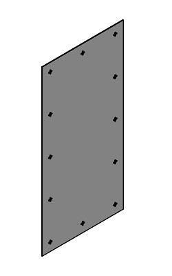 MDF baksida med hål för ljuddämpande tavla